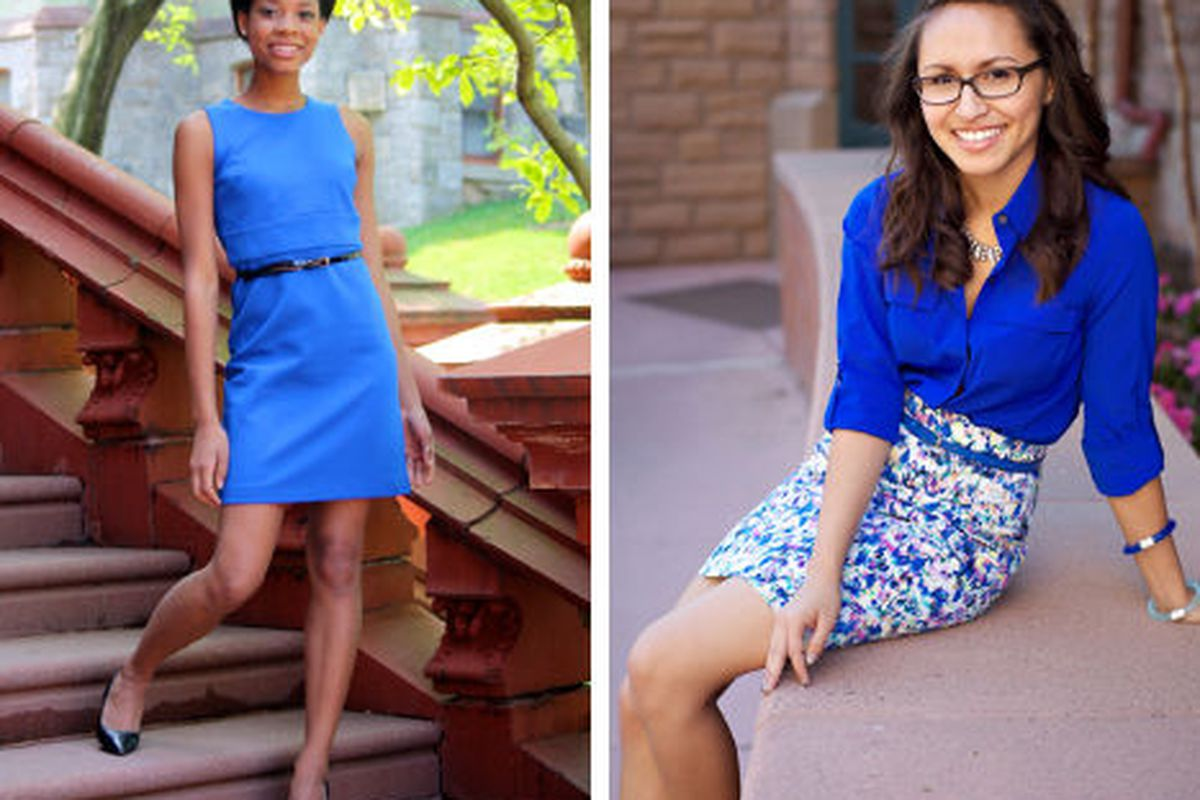 """Imari and Charley, via <a href=""""https://www.facebook.com/AnnTaylor?v=app_254553244581393&amp;rest=1"""">Style for Students</a>"""