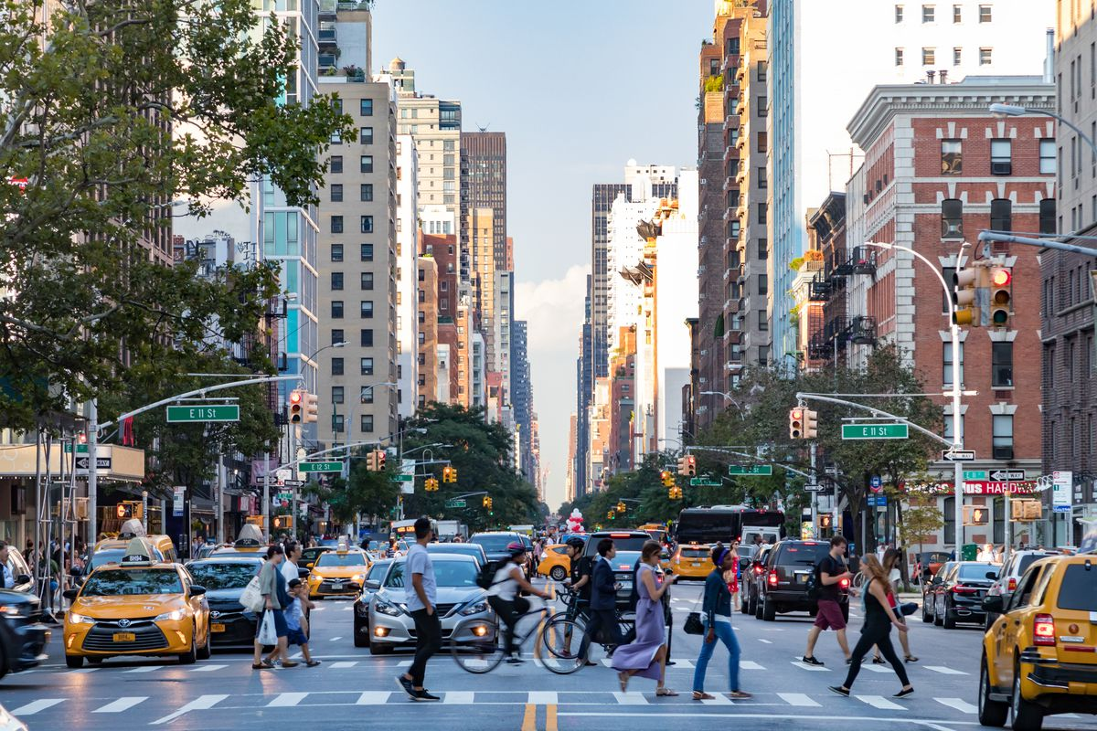 Image result for dense city street new york
