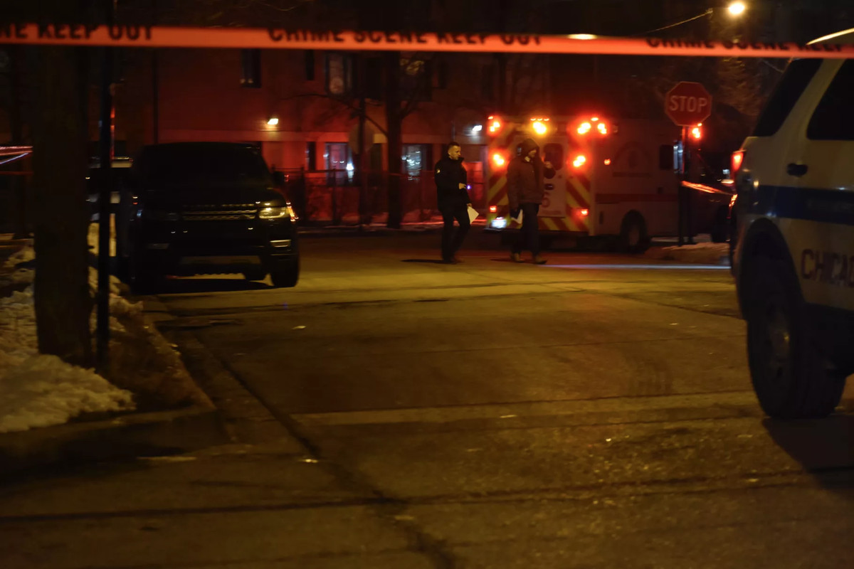 Two men were shot to death during a robbery Feb. 9 in the 2000 block of South Wells Street in Chinatown.