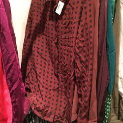 Silk top, $40