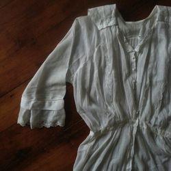 "White cotton voile Edwardian era tea gown, $165 from <a href=""http://www.etsy.com/shop/greatestfriend"">Greatest Friend</a>"