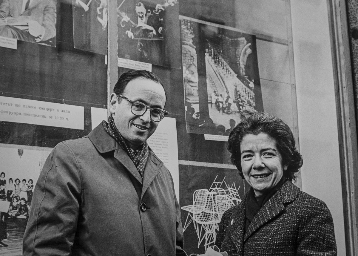 Evi and Walter Levin in Bulgaria in 1965.
