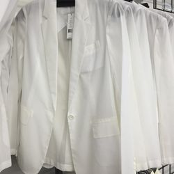 Sheer white blazer, $169 (was $325)