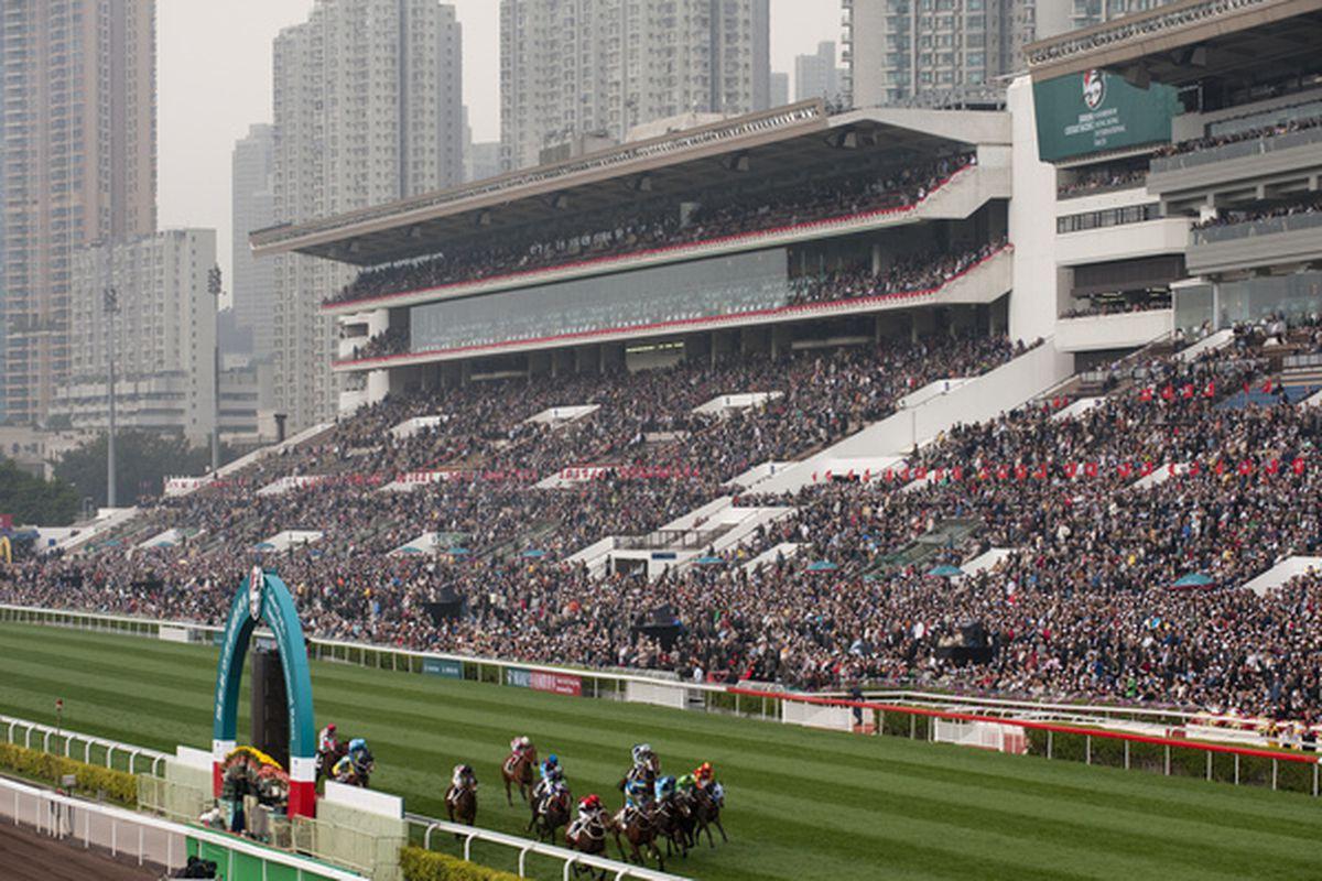 Sha Tin Racecourse in Hong Kong.