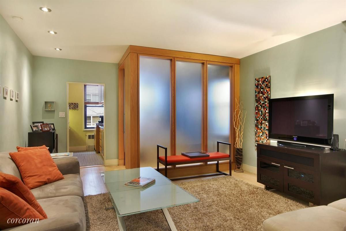 A Bedroom. Photos via Corcoran This West Village co op has a glass box for bedroom  Curbed NY