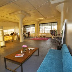 The DTLA studio operates almost solely by the amazing natural light that comes in during the day.
