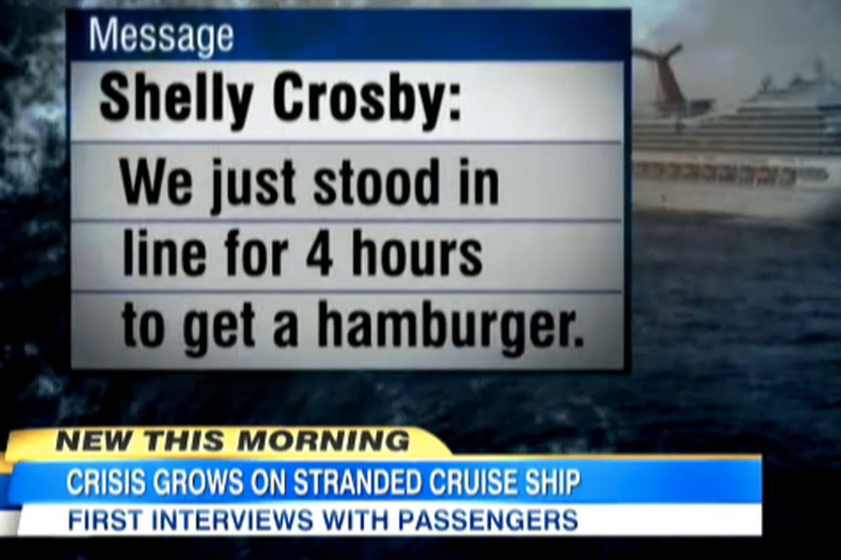 The Culinary Disaster Aboard A Cruise Ship Lost At Sea Eater - Can you text from a cruise ship