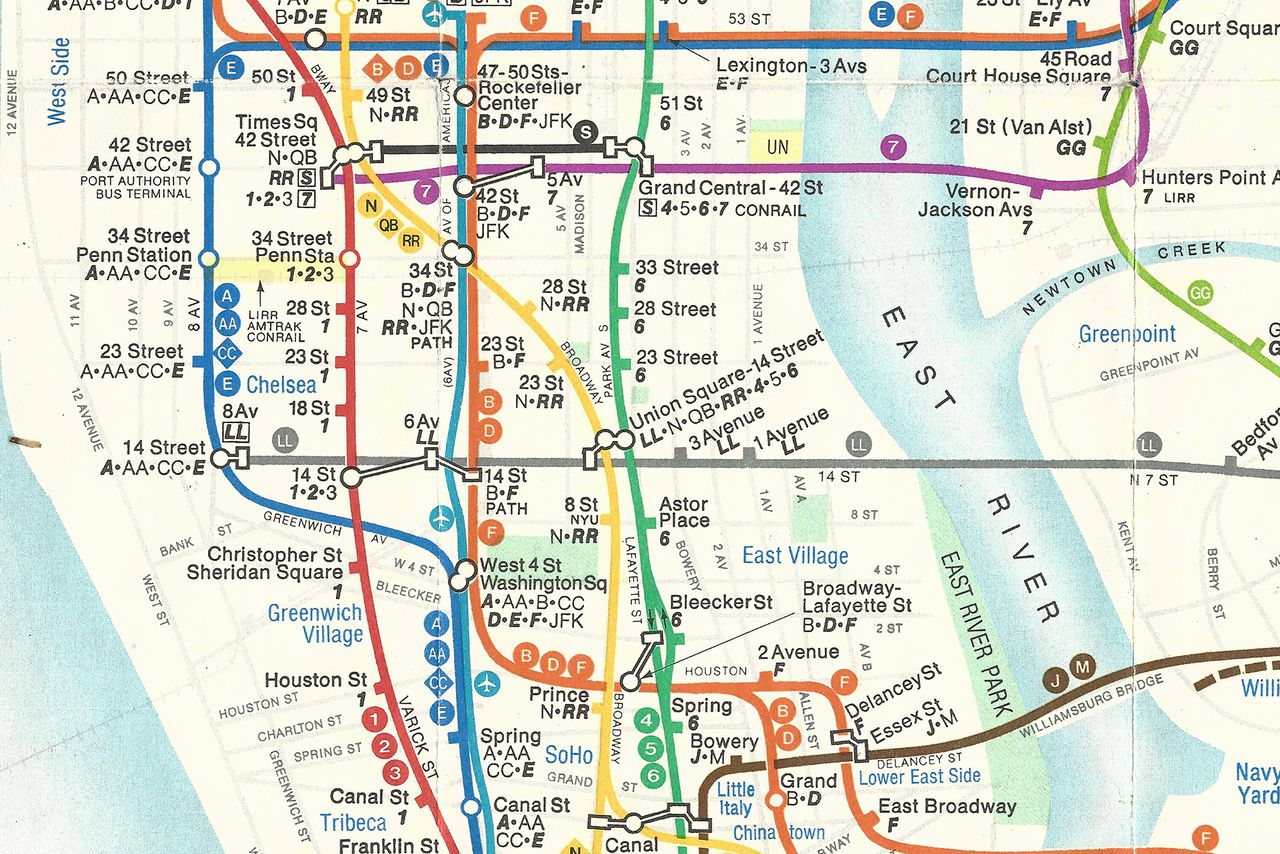 Lower East Side New York Map.The Great Subway Map War Of 1978 Revisited The Verge