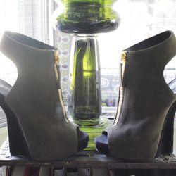 """Giuseppe Zanotti peep toe booties, $895. """"These are amazing, right? Look at that heel."""""""