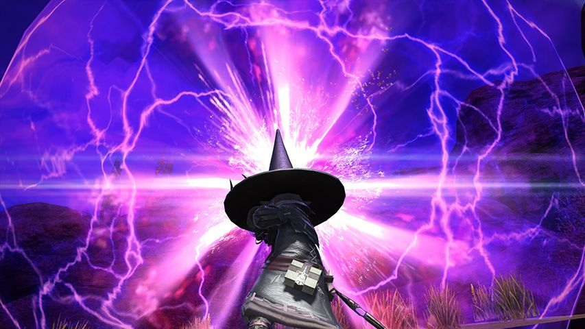 A Black Mage from Final Fantasy 14