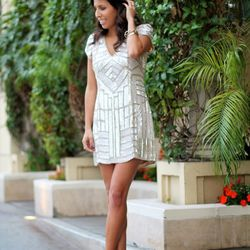 """Ashley of <a href=""""http://www.pursuitofshoes.com""""target=""""_blank""""> Pursuit of Shoes</a> is wearing a <a href=""""http://www.stylistla.com/products/serena-dress""""target=""""_blank"""">Parker</a> dress and <a href=""""http://www.forwardforward.com/fw/DisplayProduct.jsp?"""