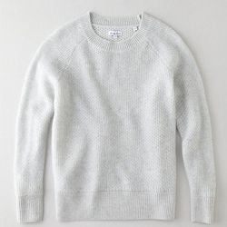 """Steven Alan cashmere Billy sweater, <a href=""""http://www.stevenalan.com/CASHMERE-BILLY-SWEATER/H13_H1_WSW0078,default,pd.html?dwvar_H13__H1__WSW0078_color=RS060#cgid=sale-styles-going-fast-womens-sale-edit&view=all&frmt=ajax&start=0&hitcount=18"""">$161.40</a"""