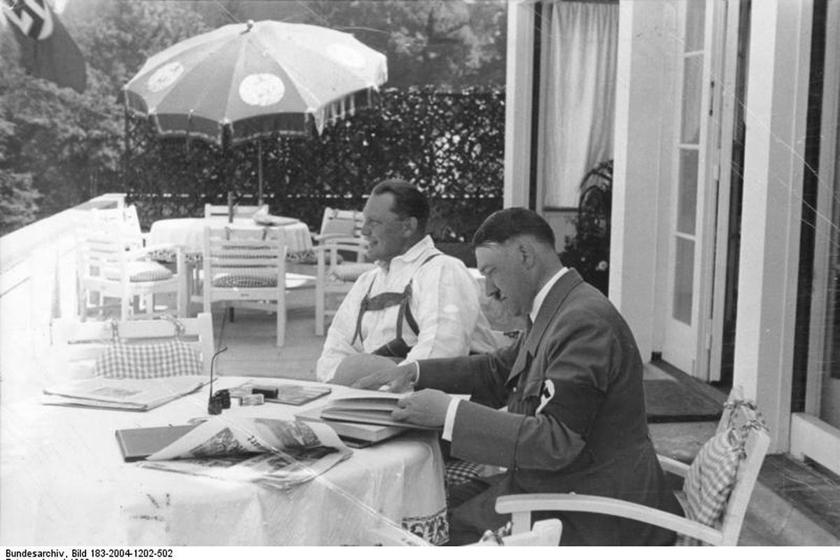 Hitler with Goring, 1933 or 1938
