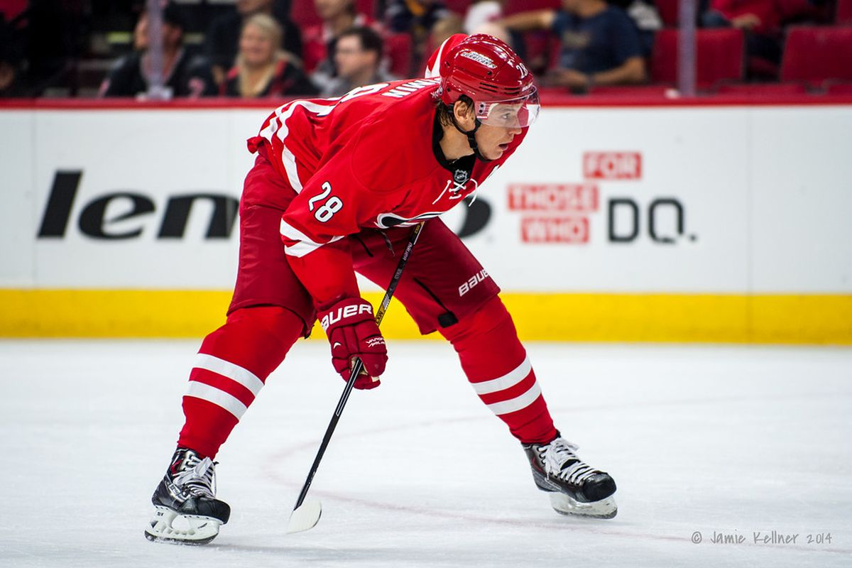 Alexander Semin is still looking for his first goal of the 2014-15 season.