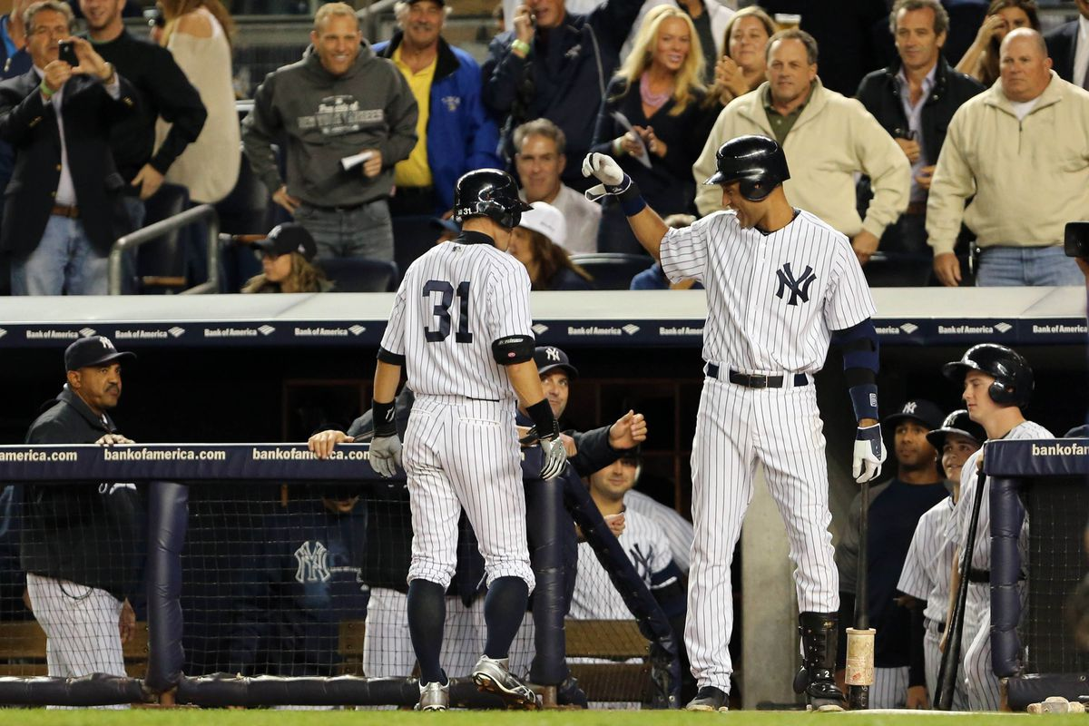 Doesn't even need to acknowledge Jeter. Hitting coach Kevin Long doesn't know what to think. Chris Dickerson is inspired.