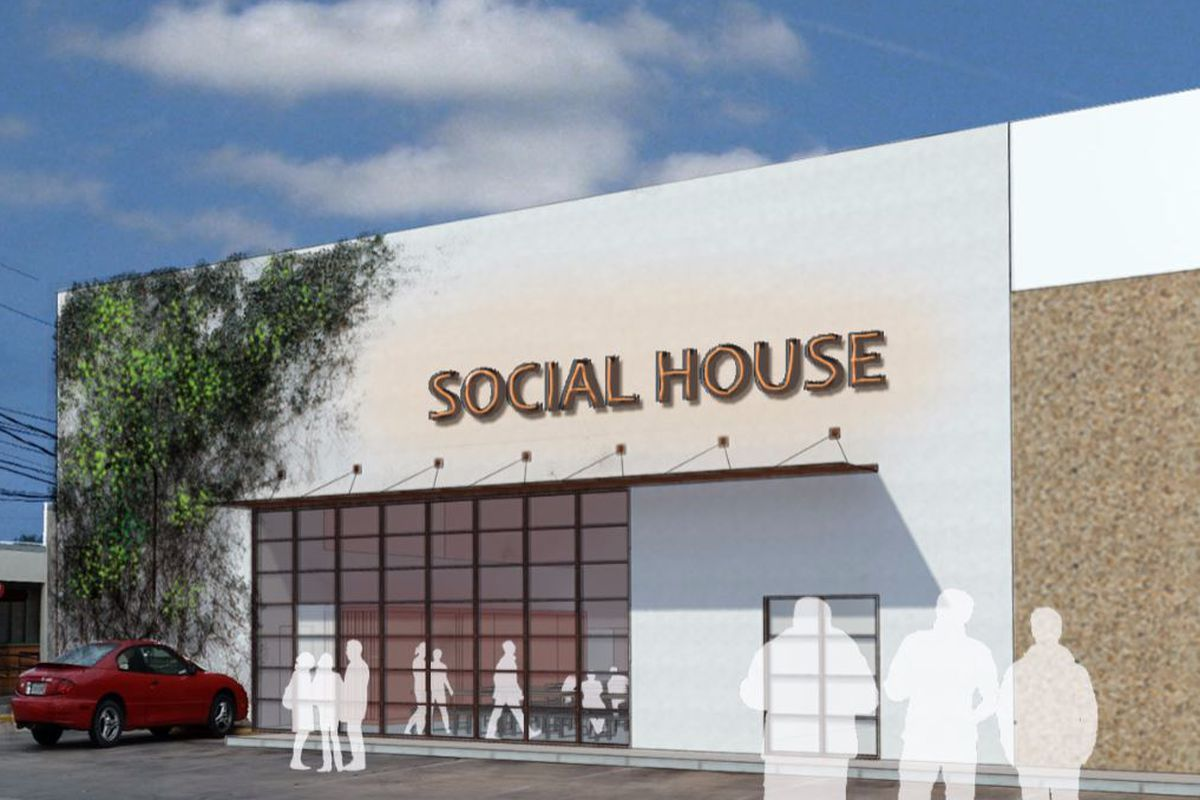 Rendering of Peached Social House