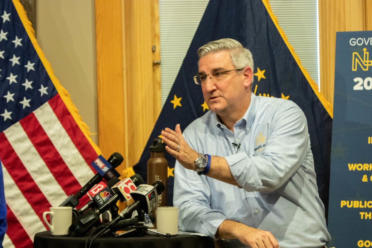 Gov. Eric Holcomb presents his 2019 budget agenda in early December at Traders Point Creamery.