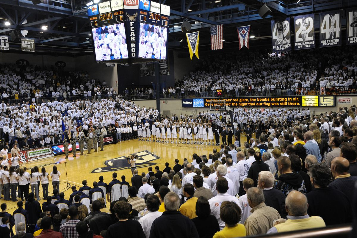 James A. Rhodes Arena Whiteout (Akron Athletics)