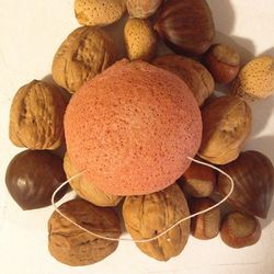 """I'm not a huge fan of abrasive exfoliants. I find this natural sponge from the <b><a href=""""http://www.konjacspongecompany.com"""">Konjac Sponge Company</a></b> to be fantastic at gently lifting off dead skin cells and revealing a healthy surface underneath."""