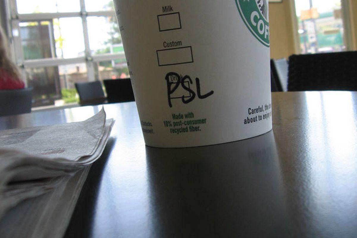A pumpkin spice latte