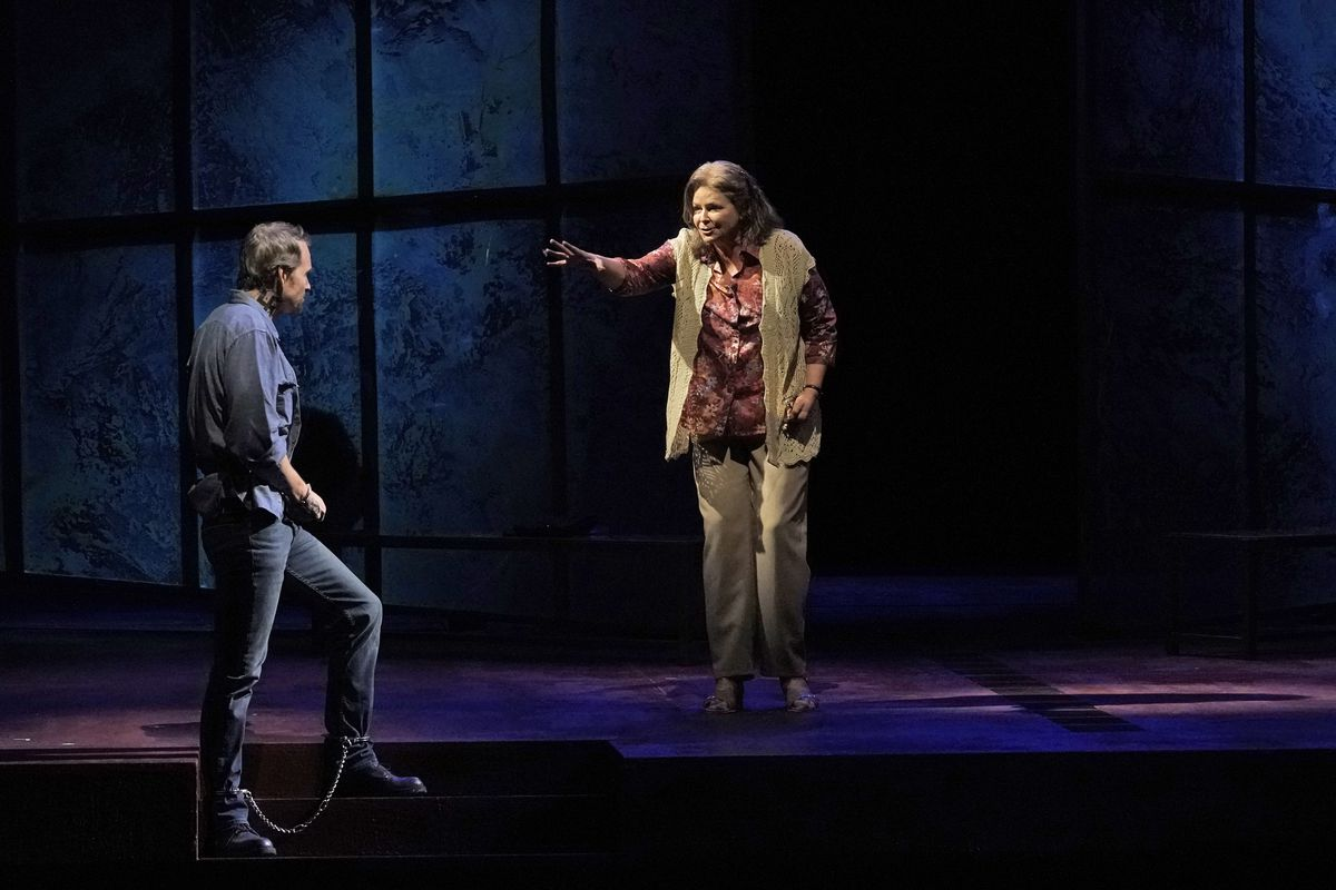 """Susan Graham (as Mrs. De Rocher) and Ryan McKinny (as Joseph De Rocher) in a scene from the Lyric Opera of Chicago production of """"Dead Man Walking."""""""