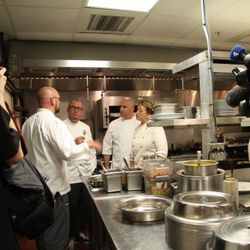 Miami chefs at Cafe Adelaide to prep for St. Bernard Project welcome home block part for Katrina displaced family