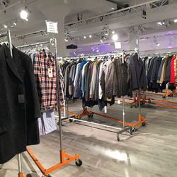 The men's section