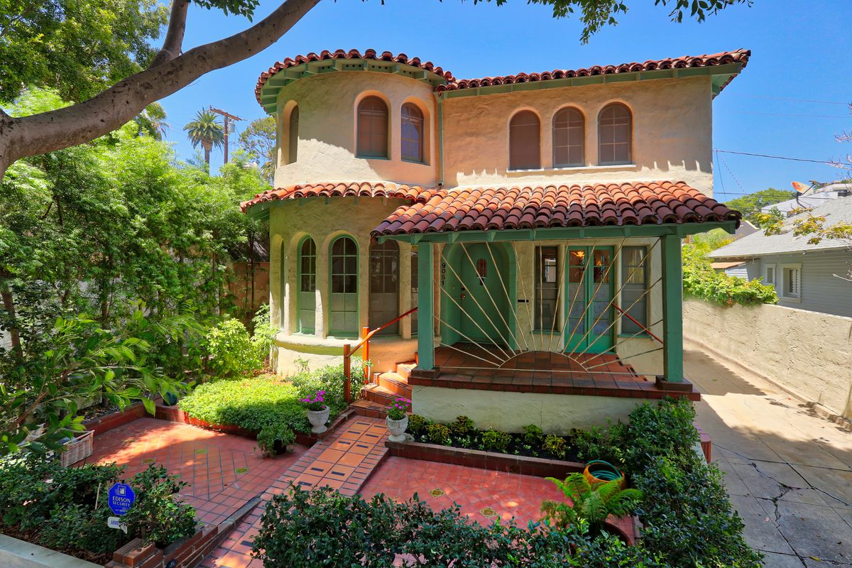 Elegant spanish style in weho s norma triangle asks for Spanish style home for sale