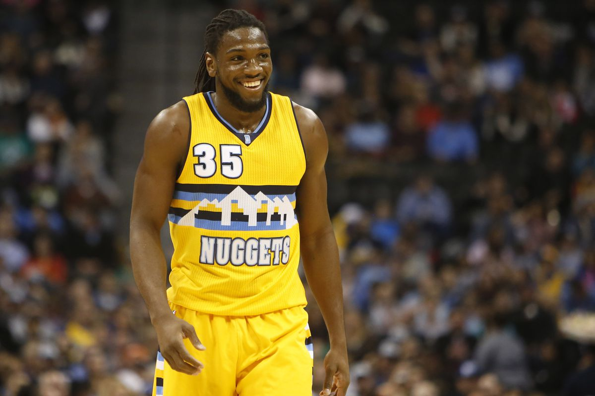 Kenneth Faried smiles at being the bright spot in tonight's game