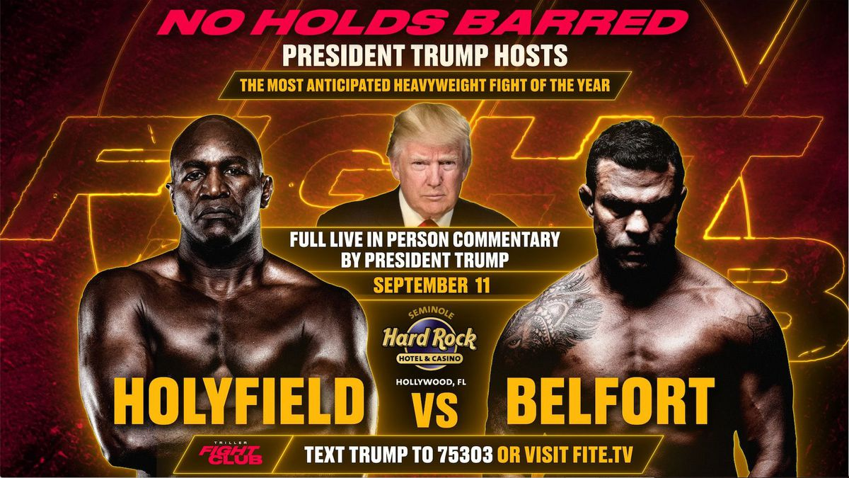 The updated poster for Belfort vs. Holyfield.