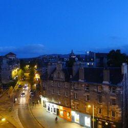 Edinburgh at sunset.