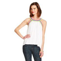 "Crochet trim tank, <a href=""http://www.target.com/p/women-s-crochet-trim-halter-slub-tank-merona/-/A-16758844#prodSlot=medium_1_15&term=%22carnival+collection%22"">$17.99</a>"