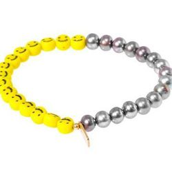 """<b>Nektar de Stagni</b> Pearl and Smiley Face Bracelet, $125 <a href=""""http://www.openingceremony.us/products.asp?menuid=2&catid=26&designerid=1730&productid=102169"""">Opening Ceremony</a>"""