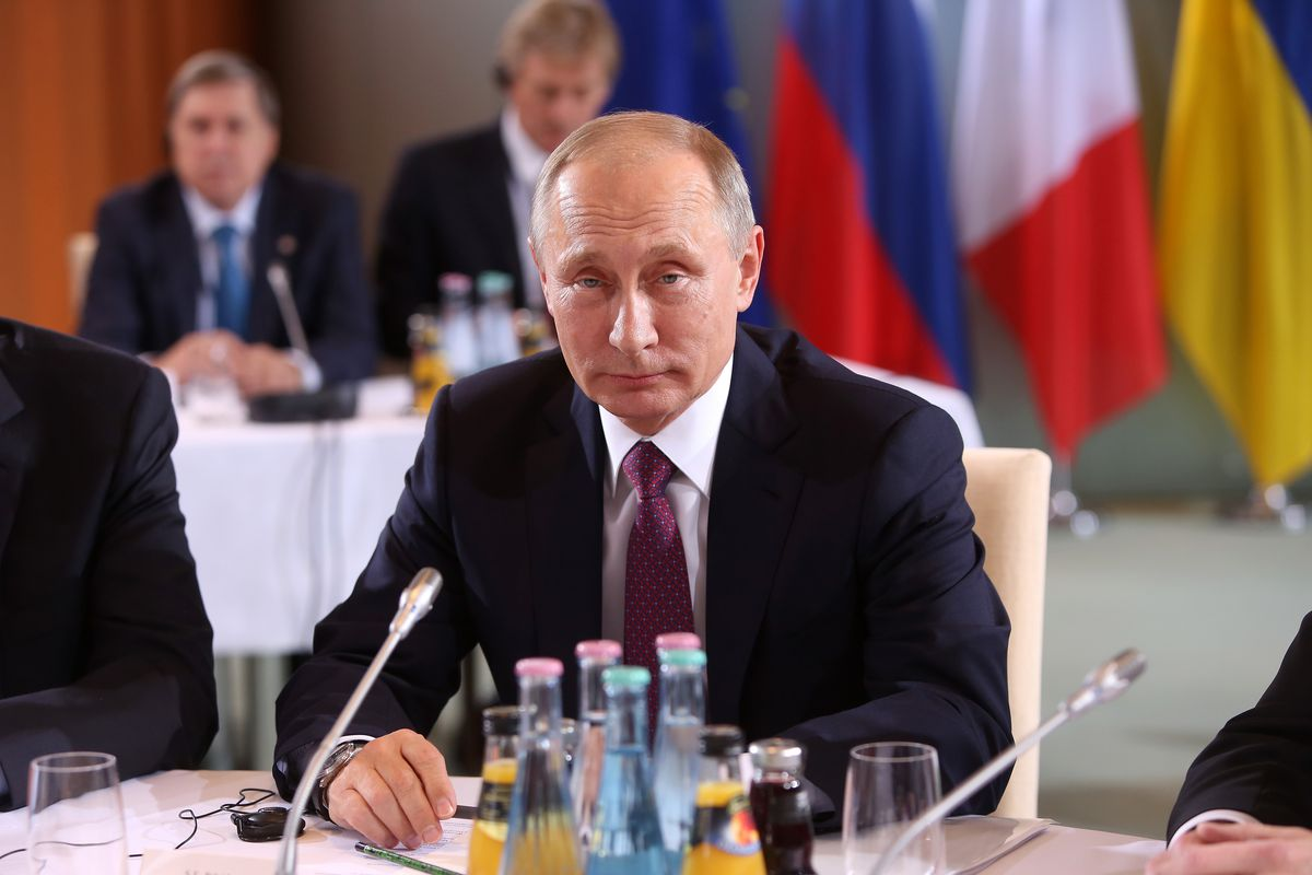 Image result for PHOTOS OF VLADIMIR PUTIN AT BUSINESS CONFERENCE