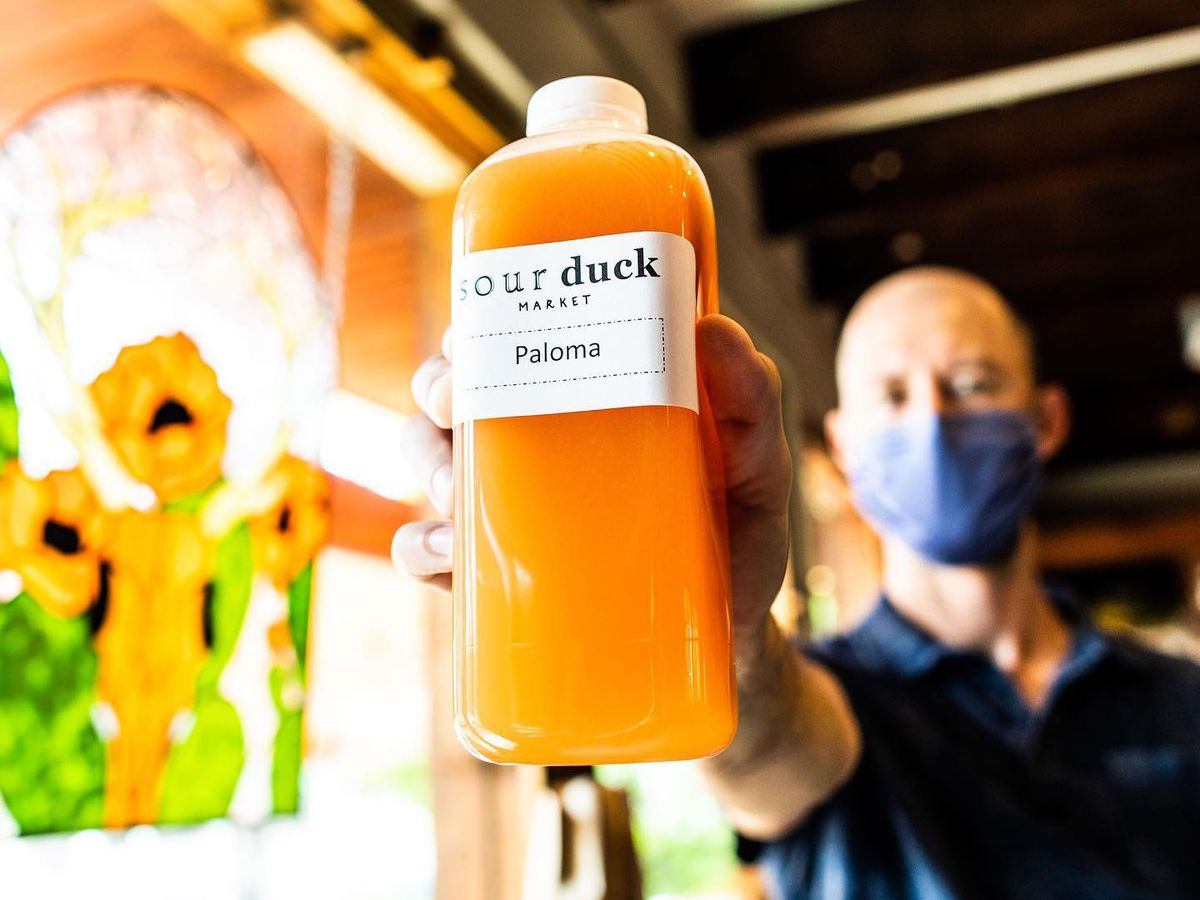 Sour Duck Market's bottled paloma