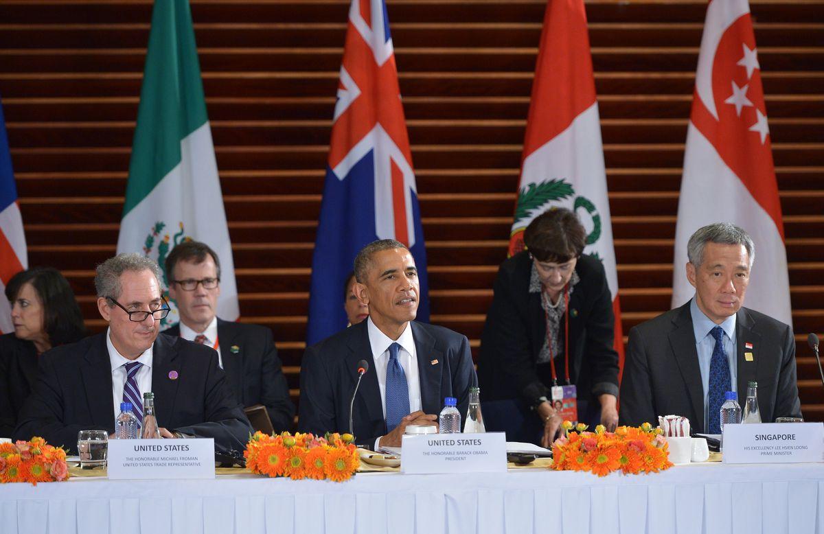 Obama TPP leaders