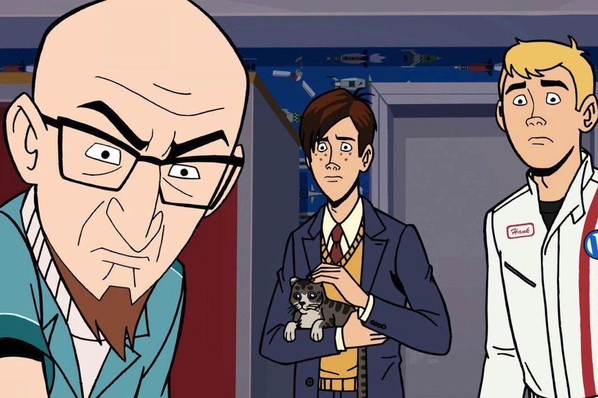 Rusty, Hank, and Dean Venture in Venture Bros. season 7