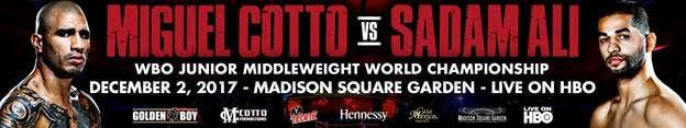 Cotto vs Ali, more: Boxing fight times and TV schedule for