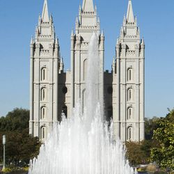 The Salt Lake Temple Sunday morning session of the 183rd Semiannual General Conference for The Church of Jesus Christ of Latter-day Saints Sunday, Oct. 6, 2013.