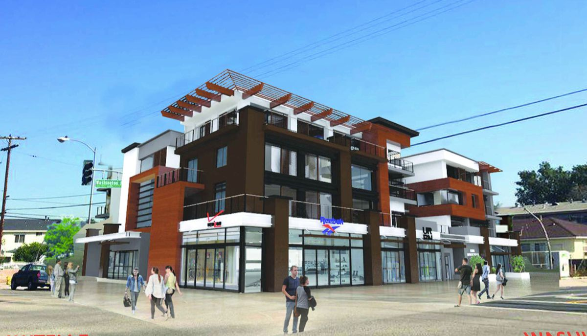 Rendering from Washington and Sawtelle