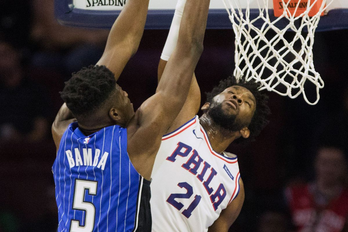 mo bamba and joel embiid square off on court and social media