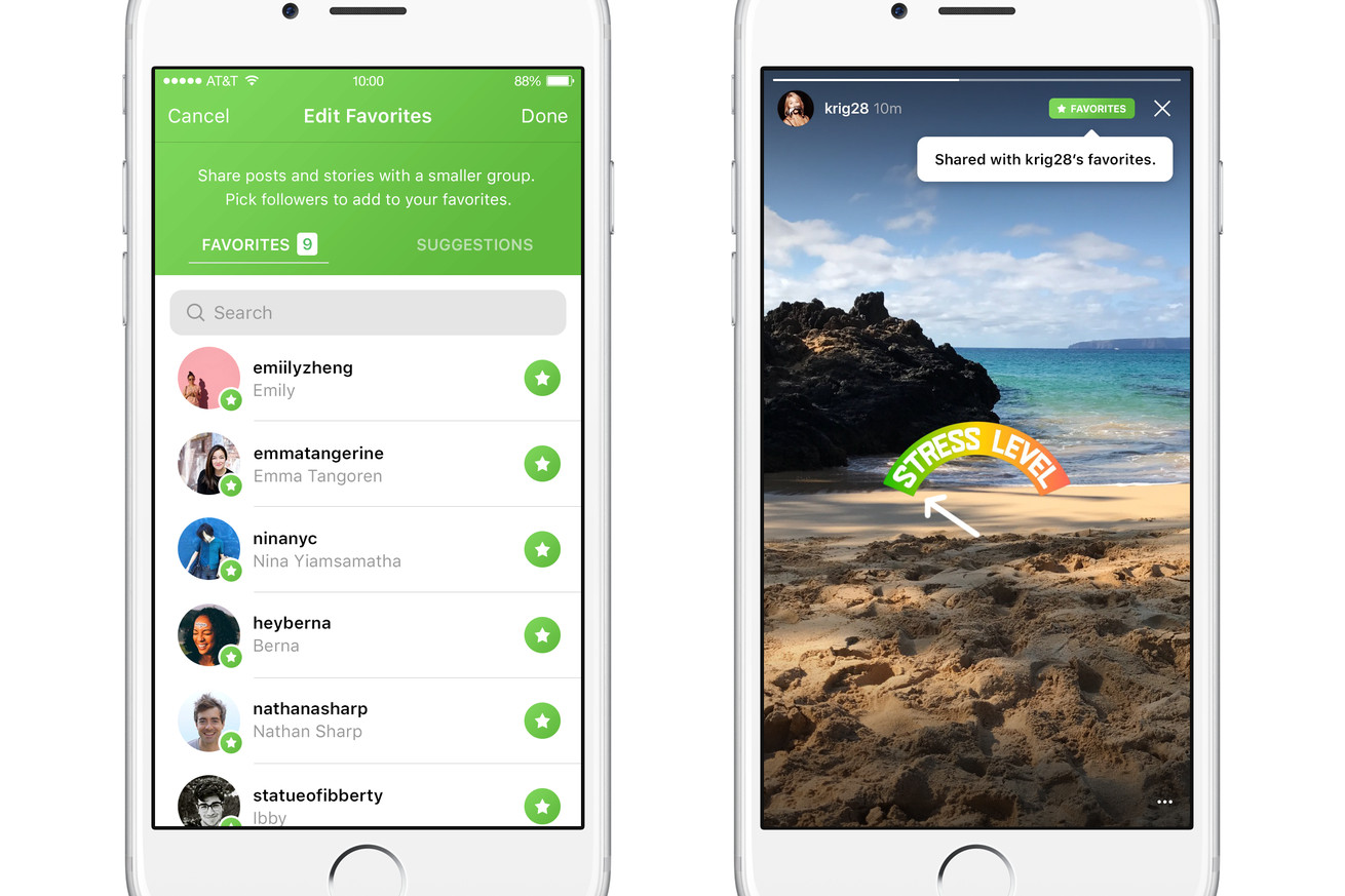 instagram tests favorites a major rethinking of private sharing
