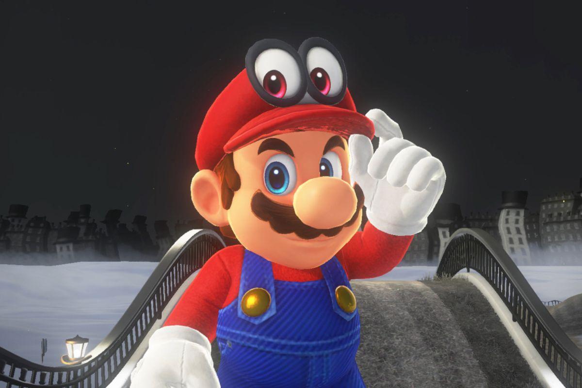 Super Mario Odyssey - Mario tipping Cappy