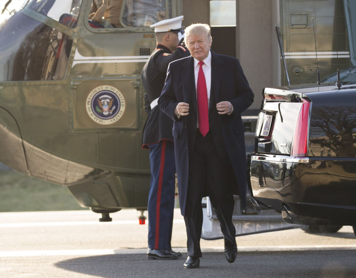 President Donald Trump Arrives At Walter Reed National Military Medical Center