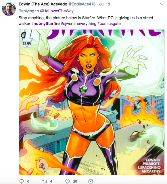 """Screen_Shot_2018_07_26_at_3.05.13_PM Teen Titans' Starfire is an orange alien. Racist """"fans"""" don't want a black woman playing her."""