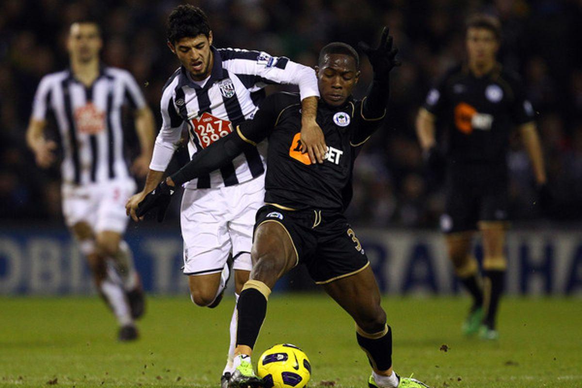 Carlos Vela, Arsenal loanee, who cannot play agin' us.