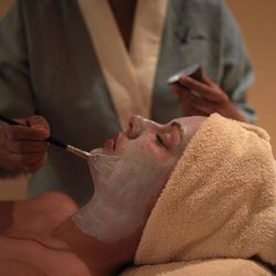 <b>V Spa at the Hilton Anatole:</b> Within these walls, guests are encouraged to choose from among a variety of soothing treatments, from facials to massages. A standout service is the Wine and Chocolate facial ($110), featuring a dark-chocolate enzyme ma