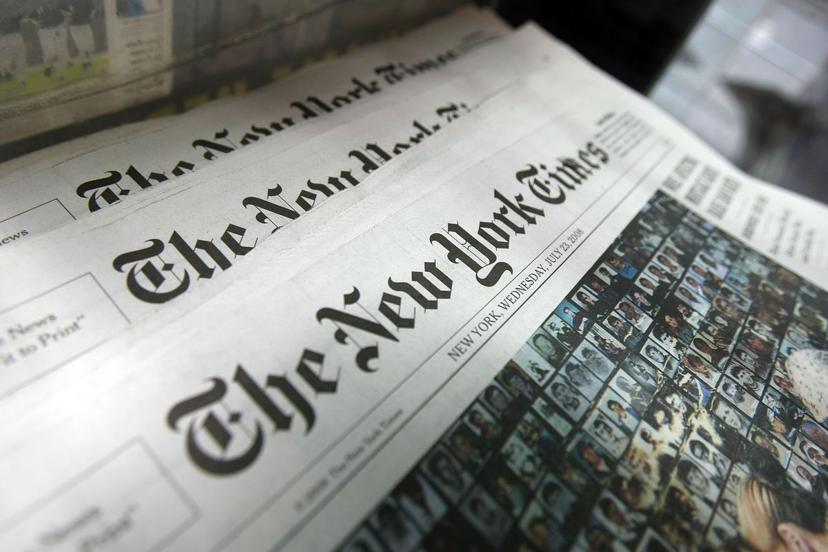 "On Thursday, the New York Times was among more than 300 newspapers pushing  back against President Trump's claim that the press is ""the enemy of the  people."