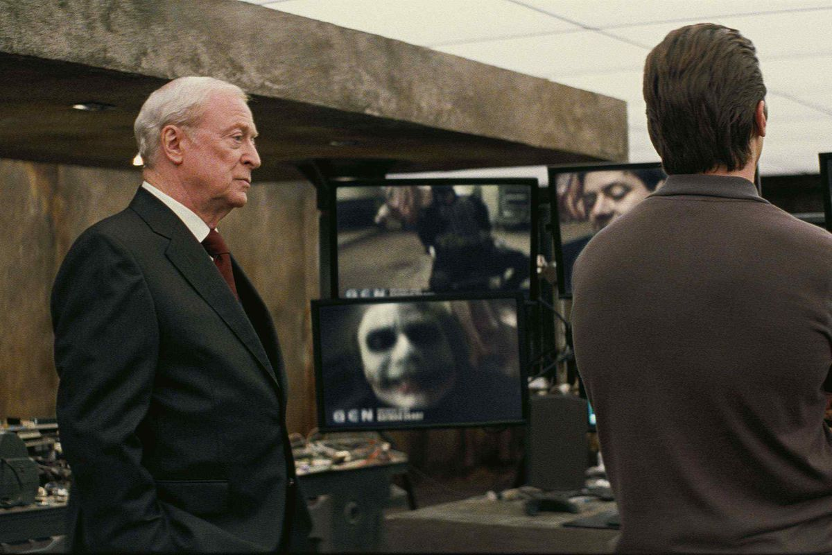 Michael Cain as Alfred in The Dark Knight