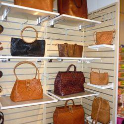P. Gaddi's super expensive woven leather bags.